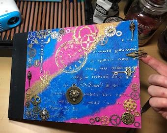 Steampunk book of shadows journal sketchbook handmade journal