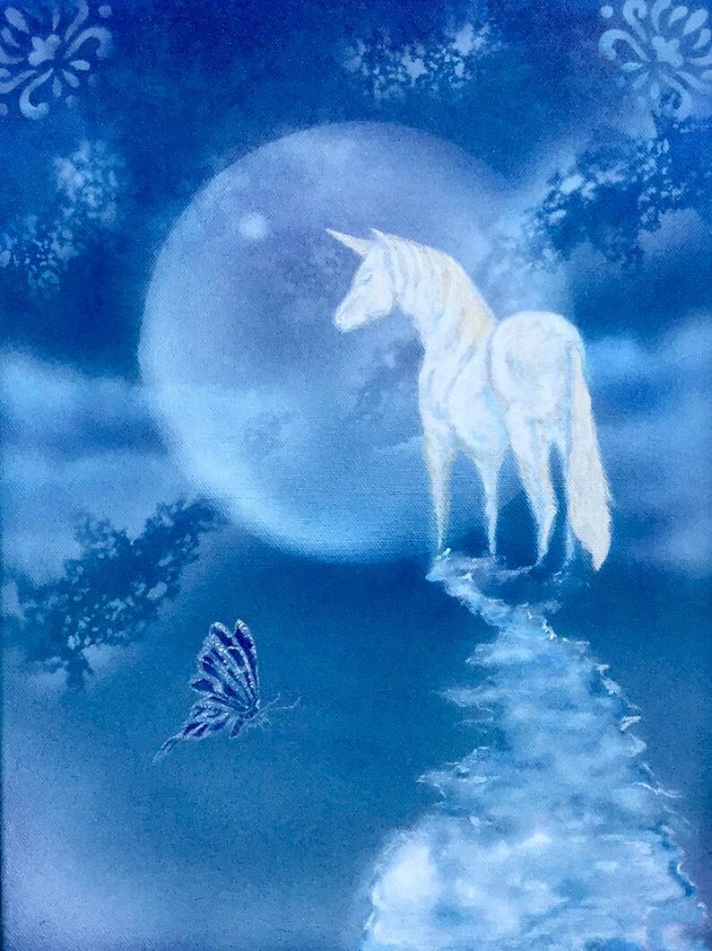 Unicorn painting childrens gift unicorn art image 0
