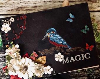 Handmade journal book of shadows sketchbook art book