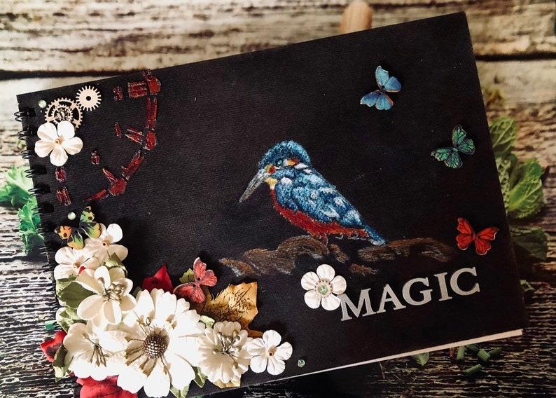 Handmade journal book of shadows sketchbook art book image 0