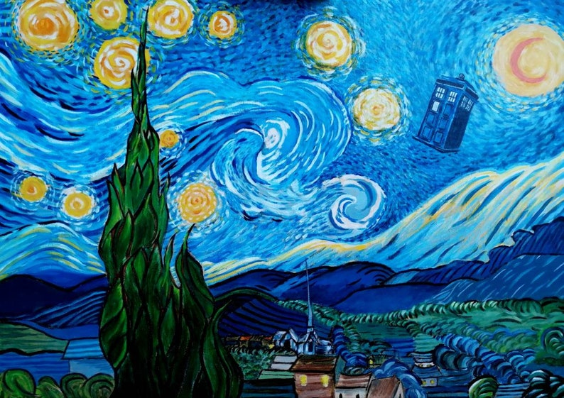 Dr who meets van gogh image 0