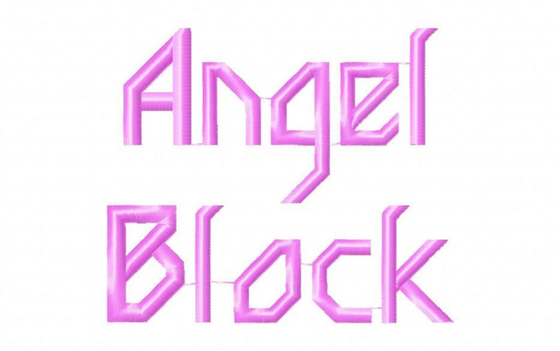 Sale! Angel block Embroidery Fonts 4 Fonts PES Fonts Alphabets Embroiderey  BX Fonts Embroidery Designs Letters - Instant Download