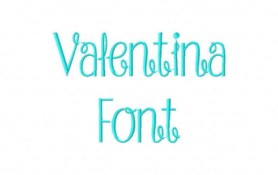 Sale! Valentina Embroidery Fonts 3 Fonts PES Fonts Alphabets Embroidery BX  Fonts Embroidery Designs Letters - Instant Download
