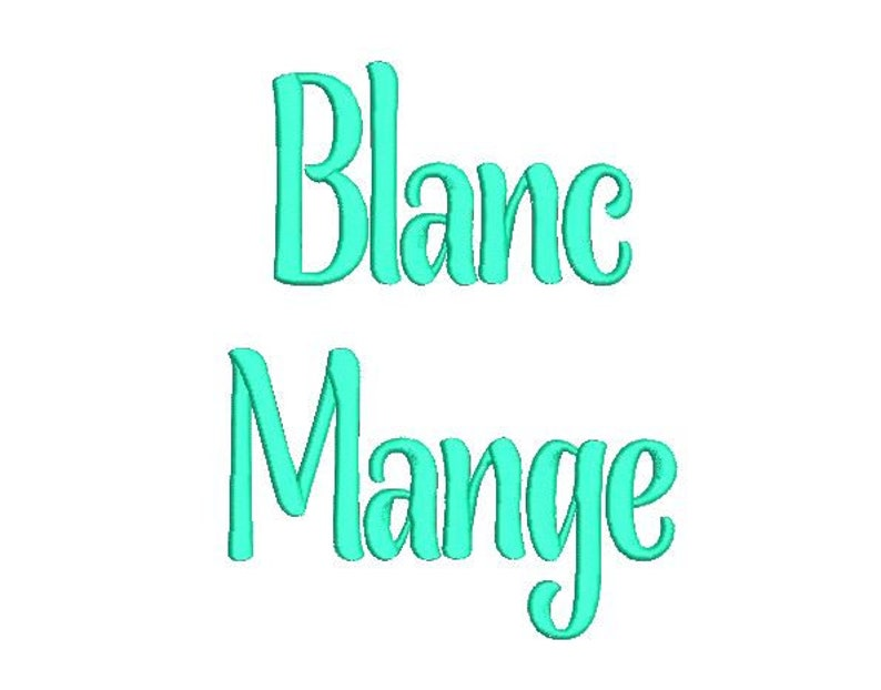 Sale! Blancmange Embroidery Fonts 6 Size PES Fonts Alphabets Embroidery BX  Fonts Embroidery Designs Letters - Instant Download