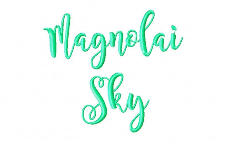 Sale! Magnolai Sky Embroidery Fonts 1 Fonts PES Fonts Alphabets Embroiderey  BX Fonts Embroidery Designs Letters - Instant Download