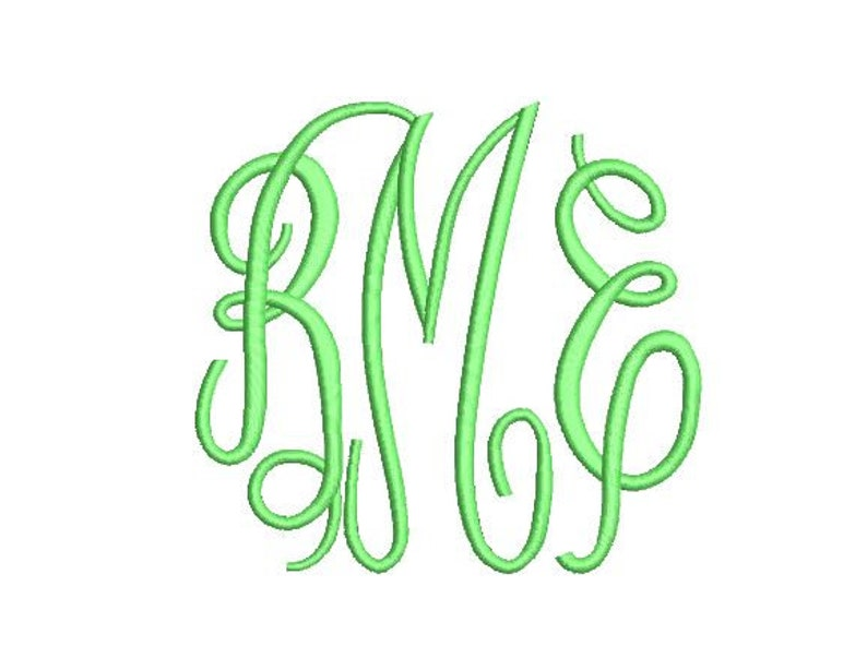 Fancy Monogram Embroidery Fonts 3 Font PES Fonts Alphabets Embroiderey BX  Fonts Monogram Font Embroidery Designs Letters - Instant Download
