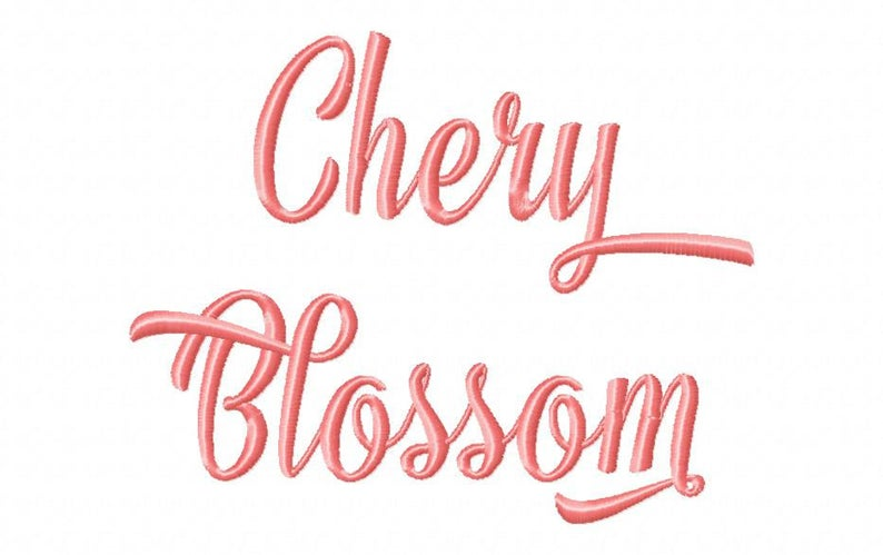 Sale! Cherry Blossom Embroidery Fonts 5 Size PES Fonts Alphabets Embroidery  BX Fonts Embroidery Designs Letters - Instant Download