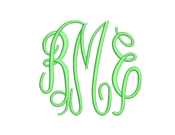 Fancy Monogram Embroidery Fonts 3 Fonts PES Fonts Alphabets Embroidery BX  Fonts Monogram Font Embroidery Designs Letters - Instant Download