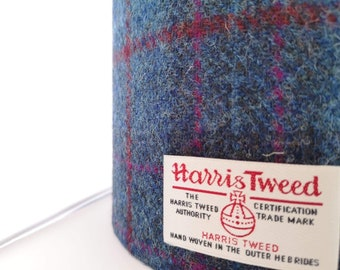 4a381139ba Navy Blue Check Tartan Harris Tweed Lampshade- 20cm 25cm 30cm  diameter-Ceiling Table Lamp -Handmade-wedding gift-housewarming-scottish.