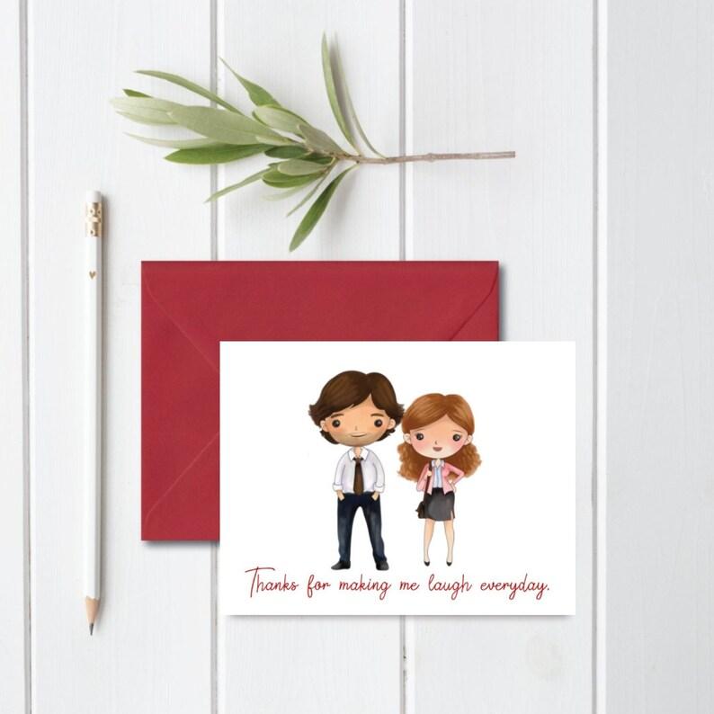 Tarjeta de San Valentín-La Oficina-PAM a mi marido Jim-Personalizado Novio