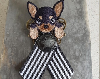 Brooch chihuahua dog