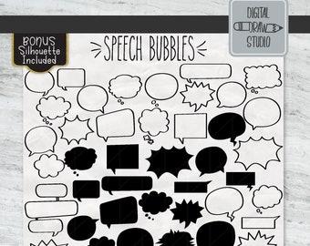 Speech Bubbles Png Etsy