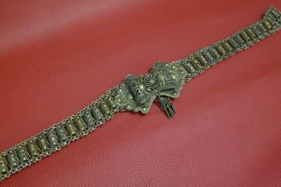 Antique Collectible Belt, Antique Silver Belt, Ant
