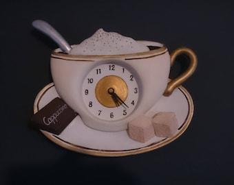 Cute Cappuccino cup wall clock