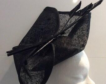 Felicia - black sisal Cap Hat
