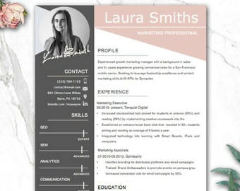 professional resume template word creative resume templates etsy