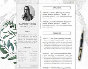 Modern cv template etsy yelopaper Images