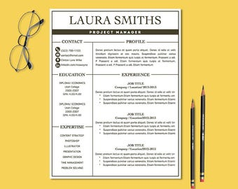 modern resume templates cv template mac pc resume template etsy