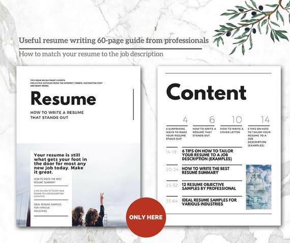 Modern Resume Template   CV Templates CV-malli   Professional Resume    Modern CV Minimalist Resume Design   Reference Cover Letter MSWord