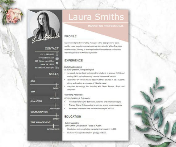modern resume template cv templates cv
