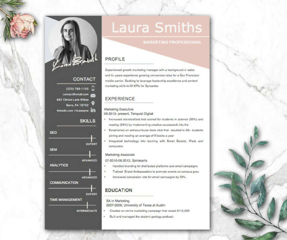 modern resume template cv templates cv