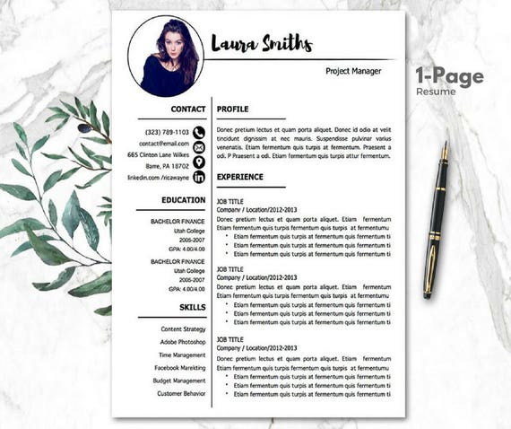 Modern Resume Templates | CV Template Mac PC | Resume Template word |  Creative Resume | 1-3 Pages resume Cover Letter Referecens