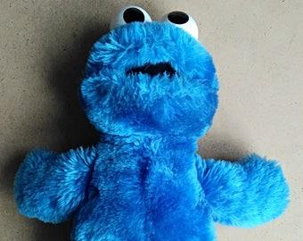 Vintage Cookie Monster Plush Toy, APPLAUSE Sesame Street, Muppets plash stuffed animal, Woodlend Hills 1992
