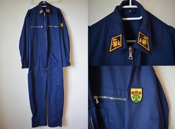 Unused Swiss Army overalls made by Dobler, Blue mi