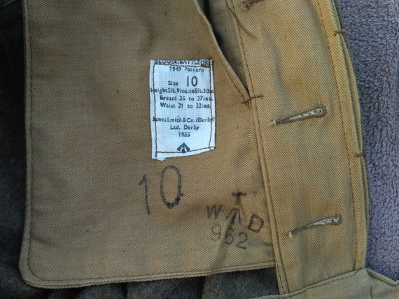 Unused British Military 1949 Pattern Blouse Battl… - image 3