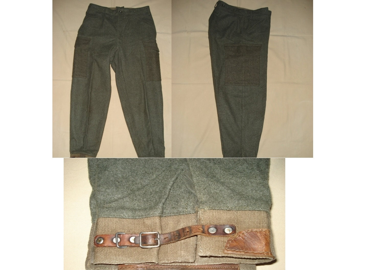 1940s Mens Ties | Wide Ties & Painted Ties Vintage Mens Swedish Military Wool Pants, Rare Authentic Vintage Wwii Army Trousers ?38, Clothing, 1940S Wool Pants $31.00 AT vintagedancer.com