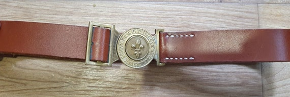 Original scout brown leather belt, vintage Swiss s