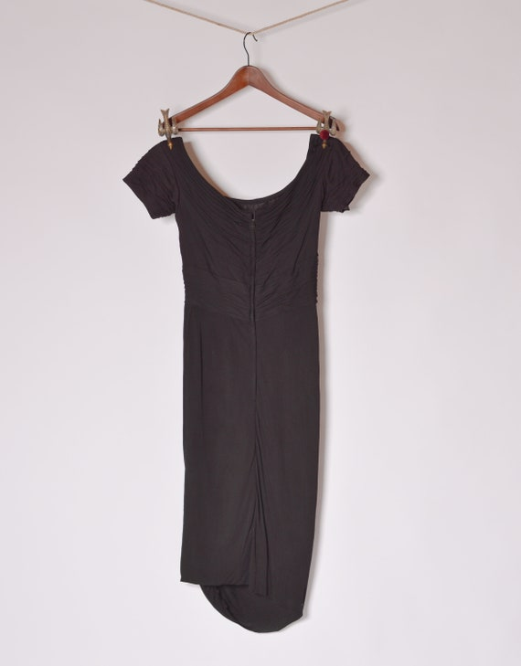 1950's Ceil Chapman Bombshell Cocktail Dress sz 4… - image 3