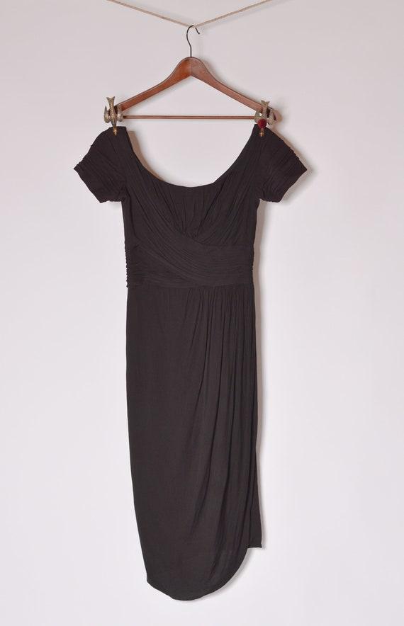 1950's Ceil Chapman Bombshell Cocktail Dress sz 4… - image 2
