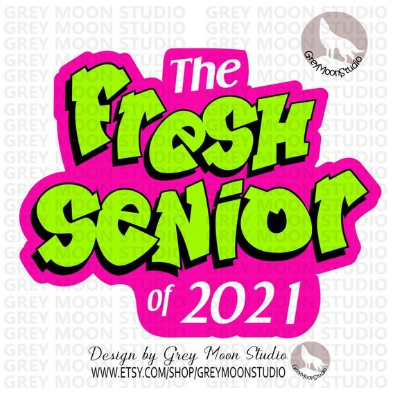 The Fresh Senior Of 2021 Senior Neon Colors Fresh Senior Etsy
