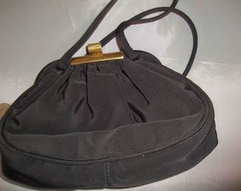1920's Black Evening Bag with Coin Purse