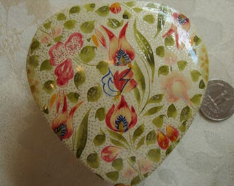 Laminated Painted Heart