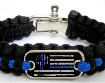 Home & Garden Arts,crafts & Sewing Blue Police Lives Matter Thin Blue Line Paracord Bracelet Usa America Flag Support Lives Police Matter Survival Bangle Bracelet Street Price