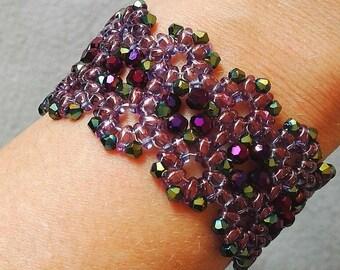 Violet beaded bracelet
