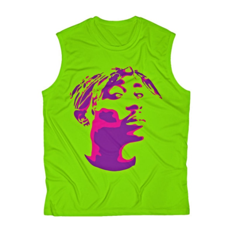 t shirt Sleeveless tank top hiphop legendary tupac image in 2 colors.