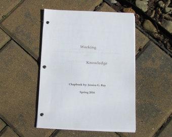 Working Knowledge Chapbook Spring '16