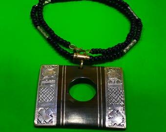 Ebony wood necklace