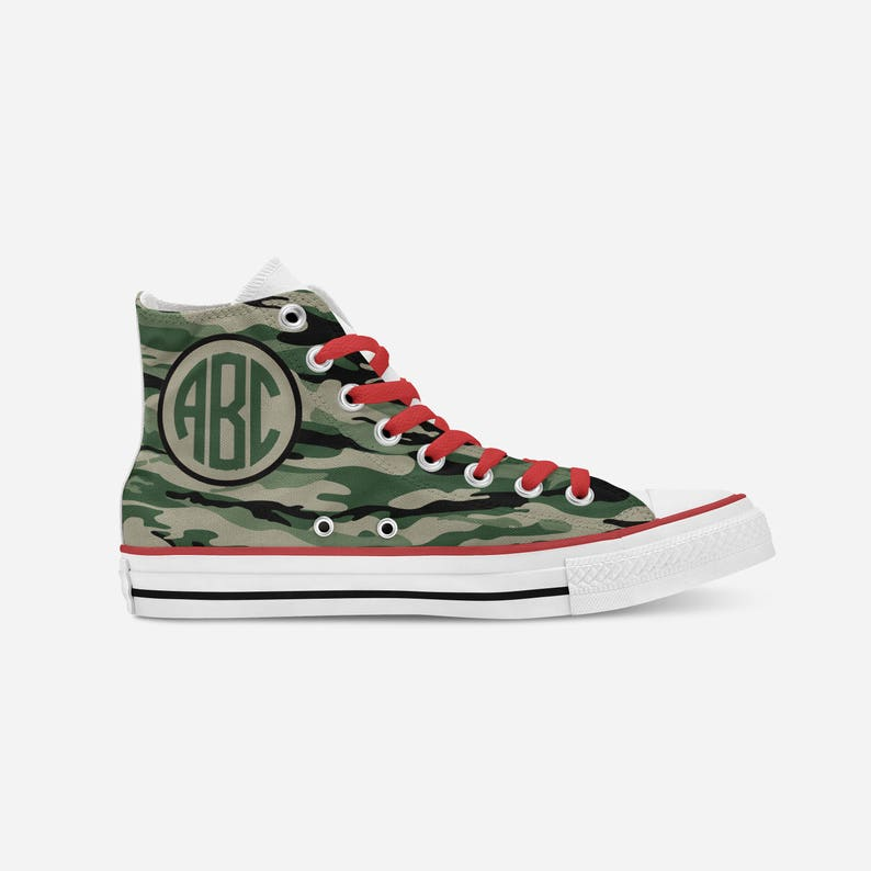 03f24efed771 Monogram camo high topsConverse high tops printed sneakers