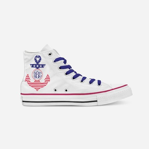 For Shoes Custom Shoes Shoes Shoes Gifts Customized Custom Him Monogram Gift Converse Personalized Monogram Anchor Shoes 8xqYnXq6