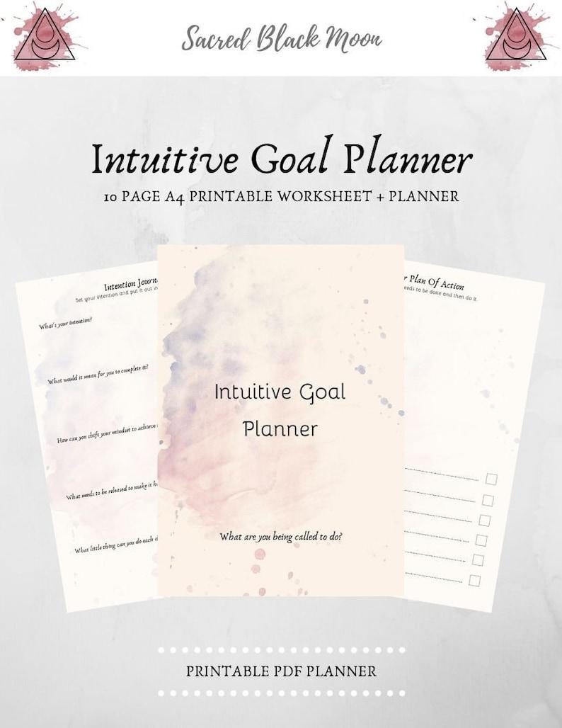 Intuitive Goal Planner   Printable Worksheets   Intention Setting   Planner  Kit