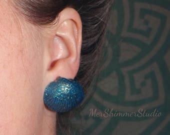 Siren's Song shell earrings