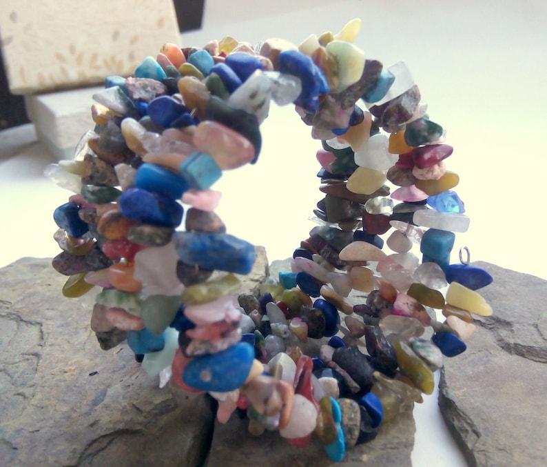 Natural Quartz Gem Adjustable Bracelet Cuff Minerals Bracelet Lapis Lazuli Bracelet Bracelet Colourful Beads Colorful Minerals Bracelet