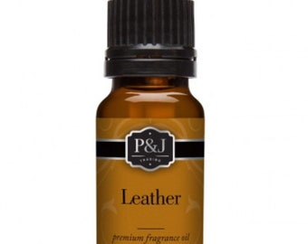Leather Slime Scents Fragrance Oils P&J Scent Oil 10ML Aroma Supplies Ingredients Slimes Bath Bombs Soaps Candles Supply Crafts