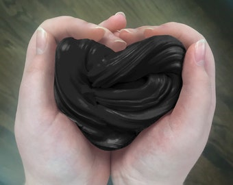 Black Scented Butter Slime Fluffy Soft Putty Made With Black Japanese Daiso Clay Kids Stress Relief Toy Goody Bag Gift Childrens Present