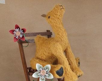 Eutaw; a OOAK Handmade Artist Bear Camel by BearTonBorough, Traditional Stuffed Animal, Perfect as Circus Nursery Decor, Christmas Nativity