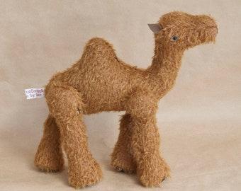 Mound; a OOAK Handmade Mohair Camel by BearTonBorough, Ideal for Artist Bear Collectors or Circus Playroom Decor, Christmas Nativity Display